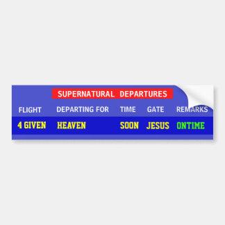 Jesus Flight Schedule Bumper Stickers