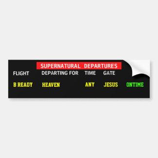 Jesus Flight Schedule Bumper Sticker