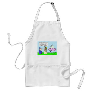 jesus flying saucer expect come back adult apron