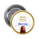 Jesus for Bernie Button