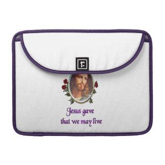Jesus forgives MacBook pro sleeve