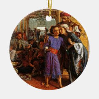 Jesus found in the temple by Mary & Joseph Ornamen Ceramic Ornament