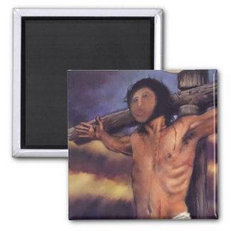 Jesus fresco of Spanish Pensionistin Magnets