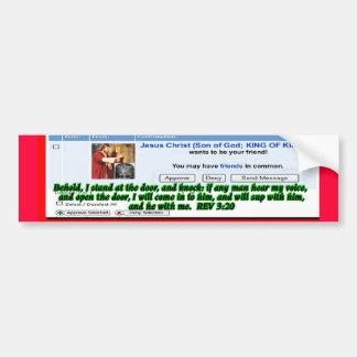 Jesus Friend Request Bumper Sticker