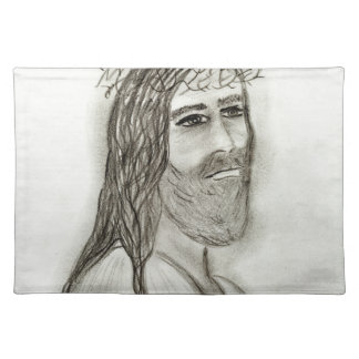 Jesus from the side placemat