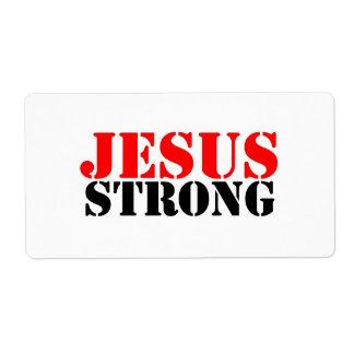 Jesús fuerte etiquetas de envío