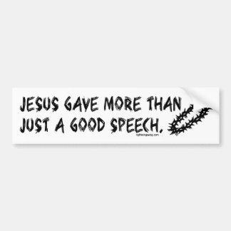"""Jesus Gave More"" Bumper Sticker"