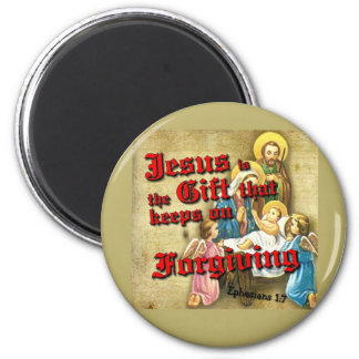 Jesus Gift Keeps Forgiving 2 Inch Round Magnet