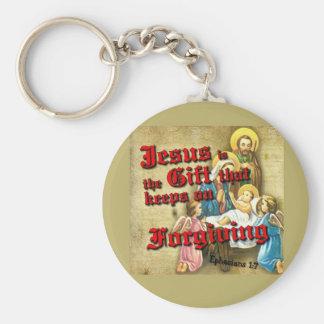 Jesus Gift Keeps Forgiving Basic Round Button Keychain
