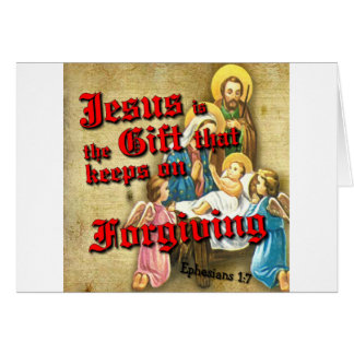 Jesus Gift Keeps Forgiving Card