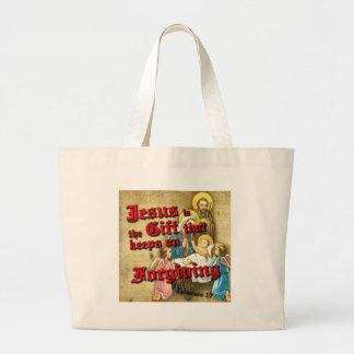 Jesus Gift Keeps Forgiving Large Tote Bag