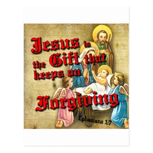 Jesus Gift Keeps Forgiving Postcard