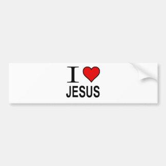 Jesus Gifts I Love Jesus Bumper Sticker