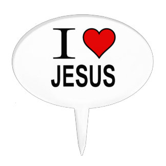 Jesus gifts I Love Jesus Cake Toppers