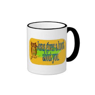 Jesus gives a hoot about you coffee mug