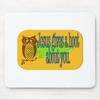 Jesus gives a hoot about you products mouse pad