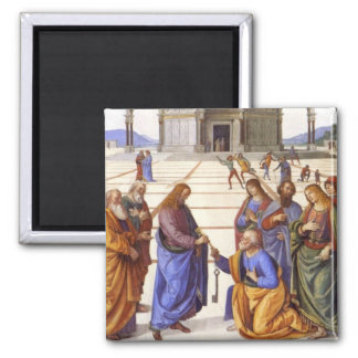 Jesus gives Peter the keys to Heaven Magnet