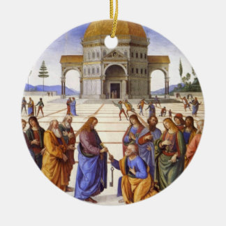 Jesus gives Peter the Keys to Heaven Ornament
