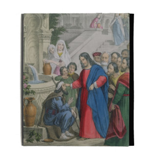 Jesus Gives Sight to One Born Blind, from a bible iPad Cases