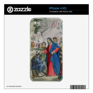 Jesus Gives Sight to One Born Blind, from a bible iPhone 4 Skins