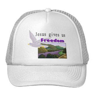Jesus gives us freedom Christian design Trucker Hat