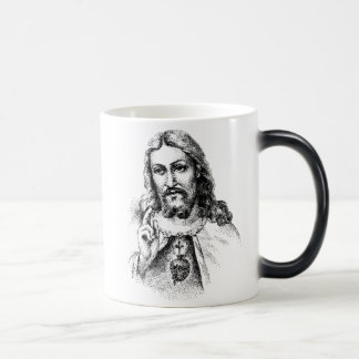 jesus, God requires your faith.  Why would he a... Magic Mug