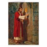 Jesús golpea en la puerta con verso completo tarjetas
