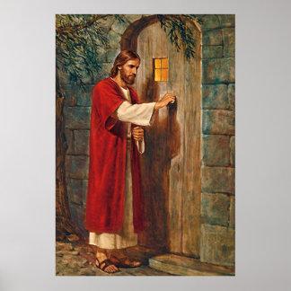 Jesús golpea en la puerta póster