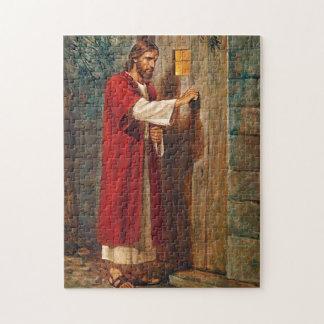 Jesús golpea en la puerta puzzle con fotos