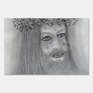 Jesús gritador letreros
