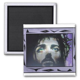 Jesús hace frente a color enmarcado imanes