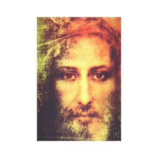 Jesús hace frente a la lona impresiones en lienzo estiradas