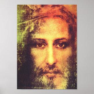 Jesús hace frente al retrato póster