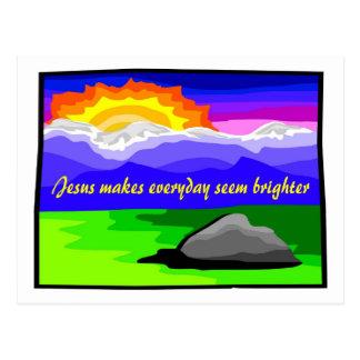 Jesús hace más brillante diario postal