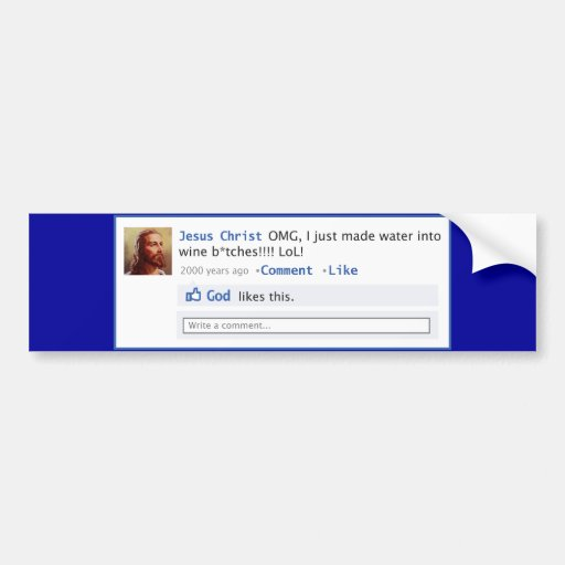 Jesús hace medios sociales etiqueta de parachoque