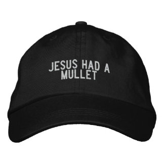 Jesus had a mullet embroidered hat