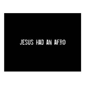 jesus had an afro postcard
