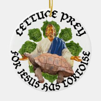 Jesus Has Tortoise Ceramic Ornament