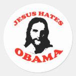 JESUS HATES OBAMA STICKER