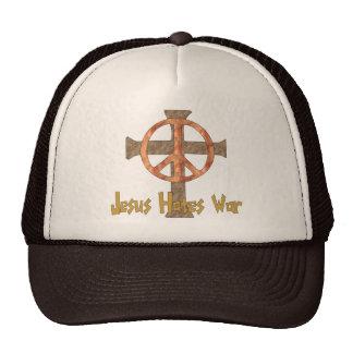 Jesus Hates War Mesh Hats