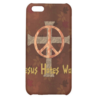 Jesus Hates War Cover For iPhone 5C