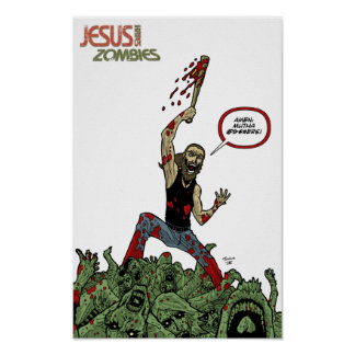 """Jesus Hates Zombies """"Amen"""" Print"""