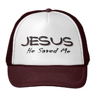Jesus he saved me trucker hat