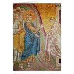 Jesus healing a leper greeting card