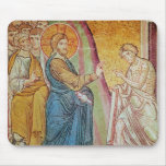 Jesus healing a leper mouse pad