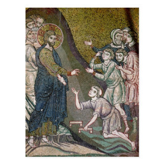 Jesus Healing the Crippled and the Blind Postcard