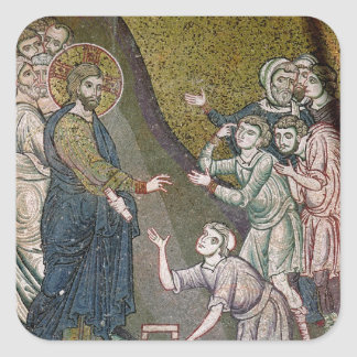 Jesus Healing the Crippled and the Blind Square Sticker