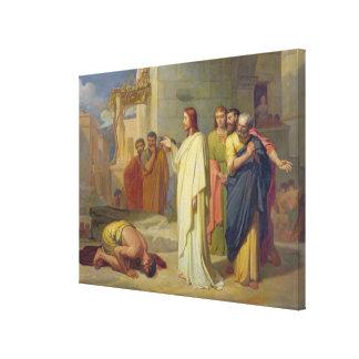 Jesus Healing the Leper, 1864 Canvas Prints