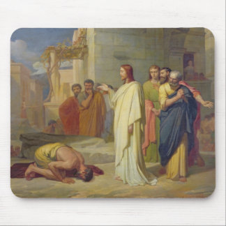 Jesus Healing the Leper, 1864 Mouse Pad