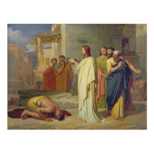 Jesus Healing the Leper, 1864 Postcards